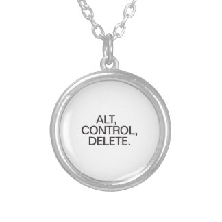 alt control delete round pendant necklace