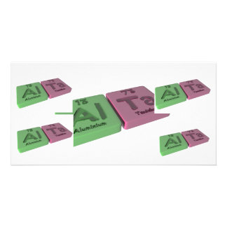 Alta as aluminium al and Tantalum Ta Personalized Photo Card