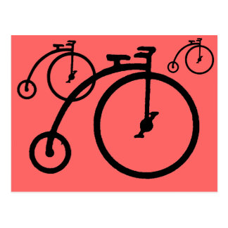 Alta bici del vintage postales