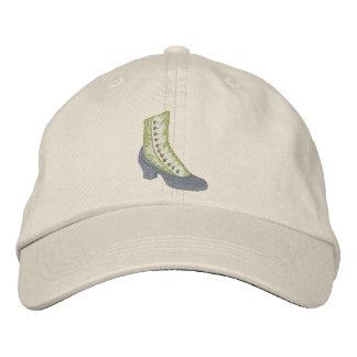 Alta bota del botón gorra de beisbol bordada
