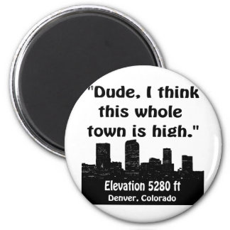 Alta ciudad de Denver Iman De Nevera