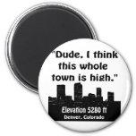 Alta ciudad de Denver Imán Redondo 5 Cm
