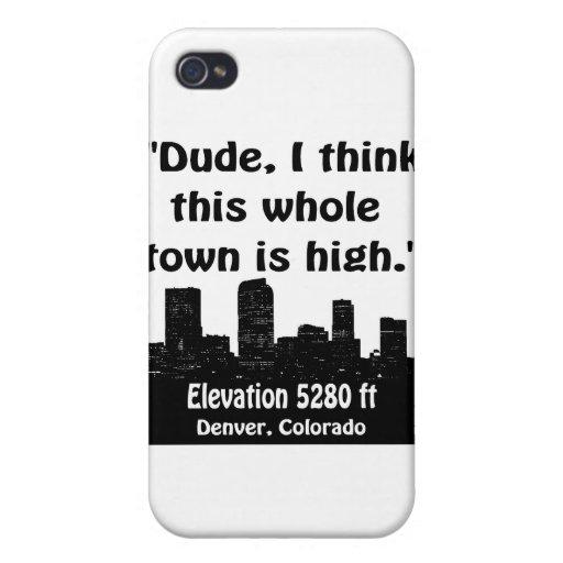 Alta ciudad de Denver iPhone 4/4S Fundas