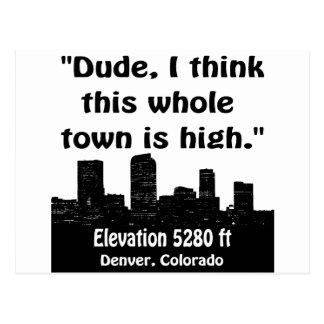 Alta ciudad de Denver Tarjeta Postal