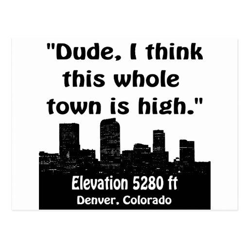 Alta ciudad de Denver Postales