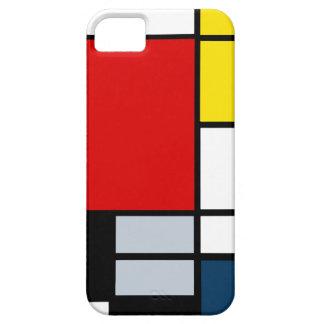 Alta composición del Res Piet Mondrian iPhone 5 Case-Mate Cárcasas