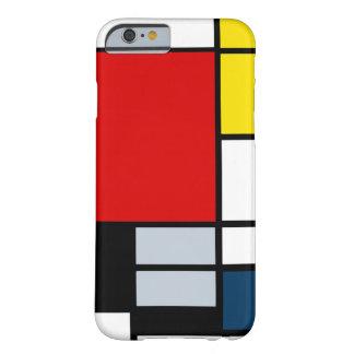 Alta composición del Res Piet Mondrian Funda Barely There iPhone 6