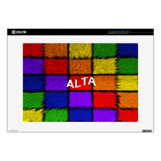 "ALTA ( female names ) Decal For 15"" Laptop"
