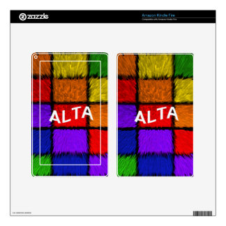 ALTA ( female names ) Kindle Fire Skin