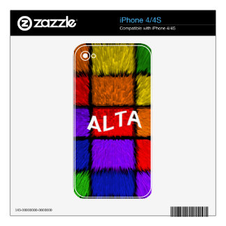ALTA ( female names ) Skin For The iPhone 4