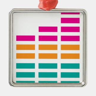 Alta fidelidad estérea del equalizador gráfico adorno cuadrado plateado