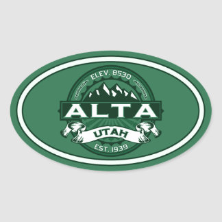 Alta Forest Oval Sticker