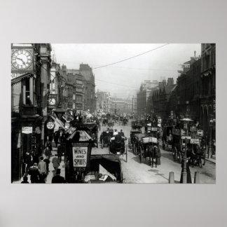 Alta Holborn, Londres, c.1890 Póster