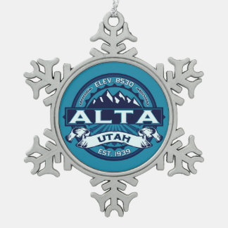 Alta Ice Pewter Snowflake Ornament