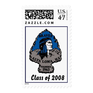 Alta Loma High  School, Braves logo - Customized Postage