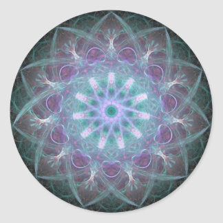 Alta mandala azul potente de la energía pegatinas redondas