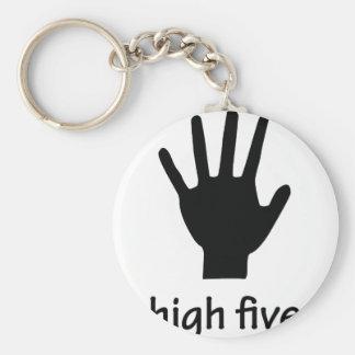alta mano cinco llavero redondo tipo pin