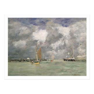 Alta marea en Trouville, c.1892-96 (aceite en el Tarjeta Postal