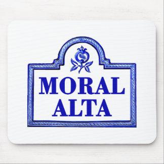 Alta moral, placa de calle de Granada Alfombrilla De Raton