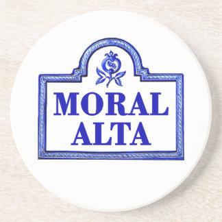 Alta moral, placa de calle de Granada Posavasos Personalizados