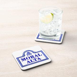 Alta moral, placa de calle de Granada Posavasos De Bebida