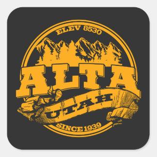 Alta Old Circle Gold Square Sticker