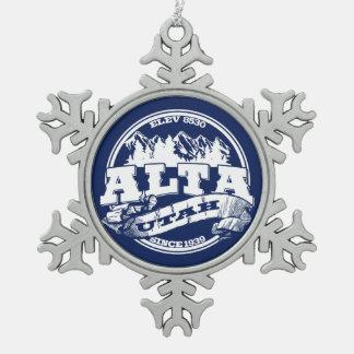 Alta Old Circle Snowflake Ornament