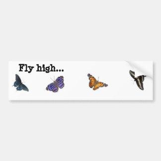 Alta pegatina para el parachoques de la mariposa d pegatina para auto