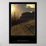 Alta puesta del sol del desierto impresiones