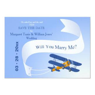 Alta reserva del aviador la invitación de la fecha invitación 12,7 x 17,8 cm