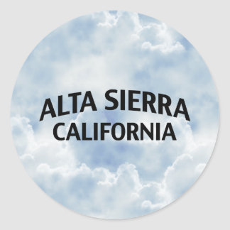 Alta Sierra California Etiqueta Redonda