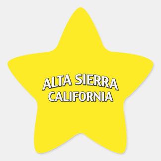 Alta Sierra California Calcomanía Cuadrada Personalizada