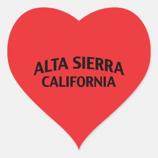 Alta Sierra California Pegatina En Forma De Corazón
