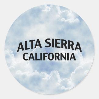 Alta Sierra California Pegatina Redonda