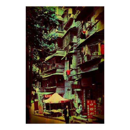 Alta subida china póster