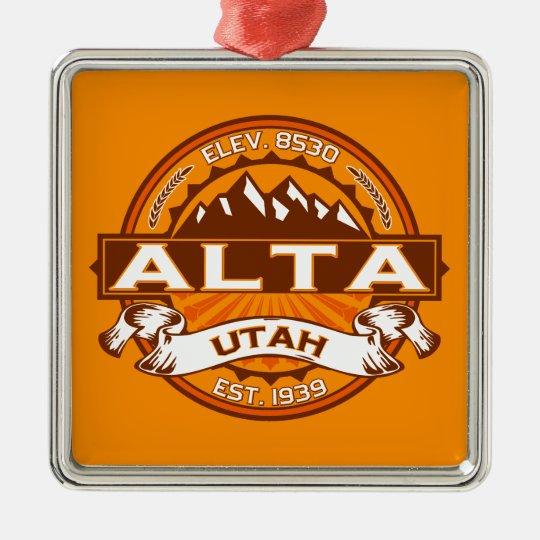 Alta Tangerine Metal Ornament