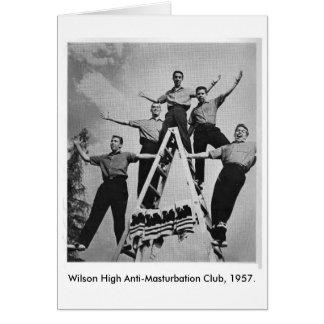 Alta tarjeta de felicitación del club del Anti-Mas