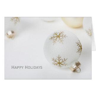 Alta tarjeta de felicitación dominante del navidad