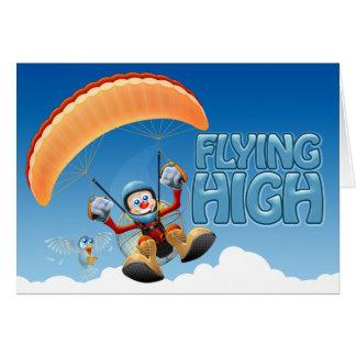 Alta tarjeta de Paramotor que vuela