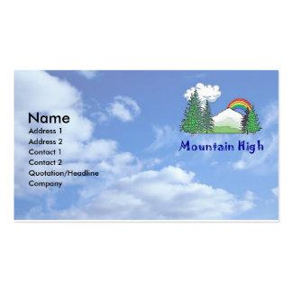 Alta tarjeta de visita de la montaña