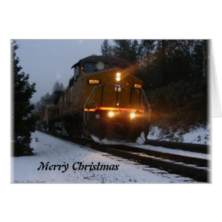 Alta Train Christmas Greetings Card