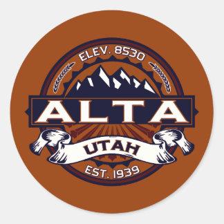 Alta Vibrant Classic Round Sticker