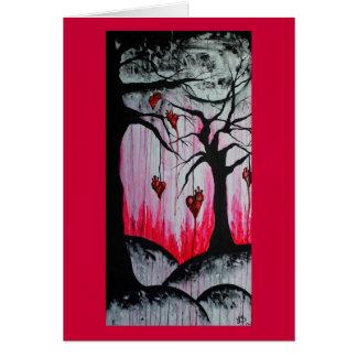 Alta - y - tarjeta de felicitación seca del arte