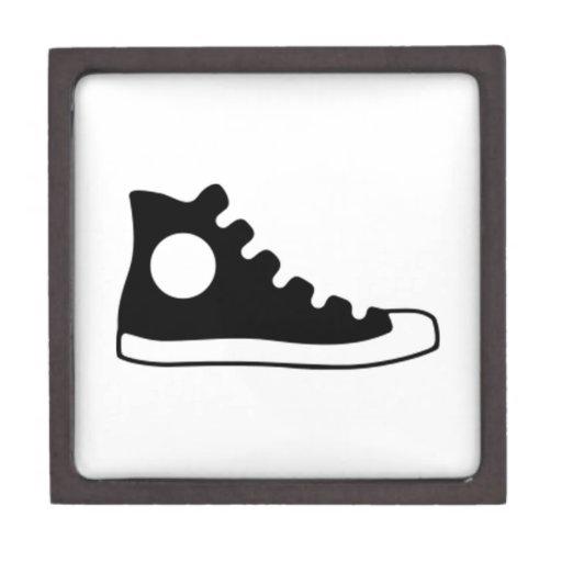 Alta zapatilla de deporte superior caja de recuerdo de calidad