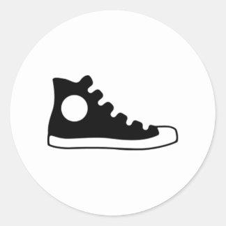 Alta zapatilla de deporte superior pegatina redonda