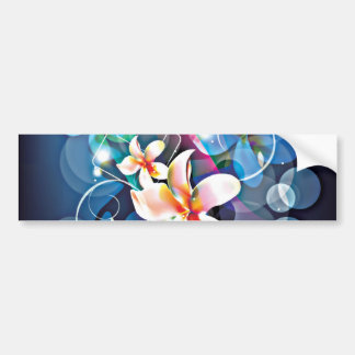 ALTAbstract Background with Flower Vector Art DIGI Bumper Stickers