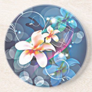 ALTAbstract Background with Flower Vector Art DIGI Coaster