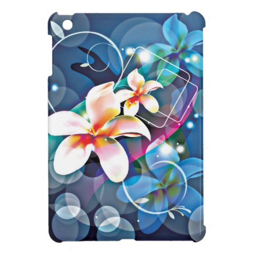 ALTAbstract Background with Flower Vector Art DIGI iPad Mini Case