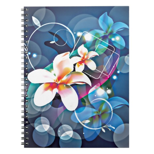 ALTAbstract Background with Flower Vector Art DIGI Spiral Notebook