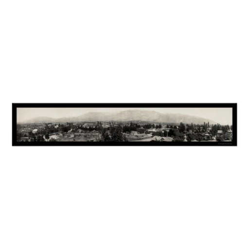 Altadena, foto panorámica 1908 de California Posters